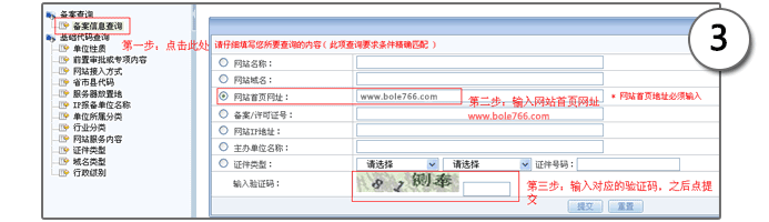 网站域名备案查询